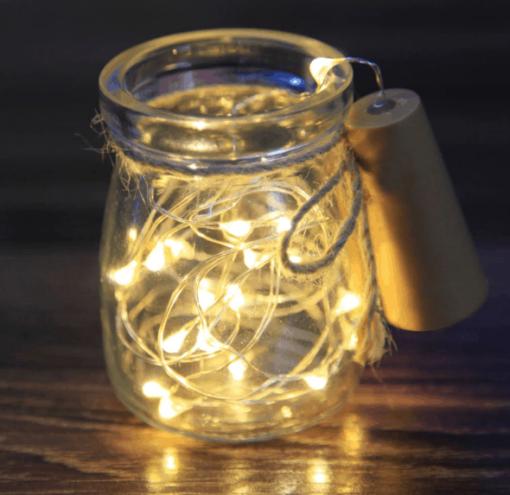 Catena LED decorativa per bottiglia