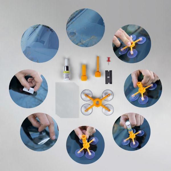 PROGLASS® Kit di riparazione vetri