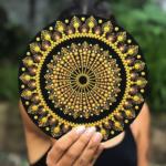 Cartone nero - Pittura mandala